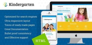 Kindergarten Children HTML Theme Download