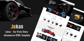 Lukas Car Parts Store eCommerce HTML Template Download