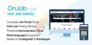 OnJob PHP Job Portal Application Nulled Script