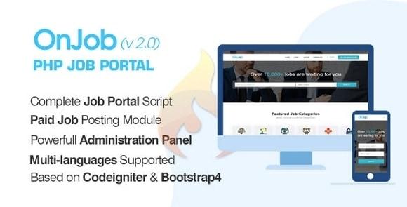 OnJob PHP Job Portal Application Nulled Script