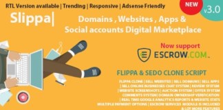 Slippa Domains Website App Social Media Marketplace PHP Script Nulled