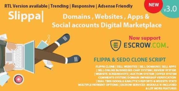 Slippa Domains Website App Social Media Marketplace PHP Script Nulled