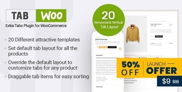 TabWoo Custom Product Tabs for WooCommerce