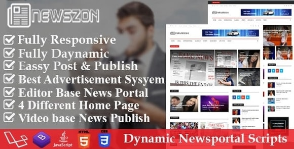 News Paper Dynamic News Magazine and Blog Portal Script Nulled