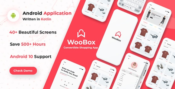 WooBox WooCommerce Android App E-commerce Full Mobile App Source Code