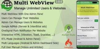 Multi WebView and Admin Panel App Source Code Download