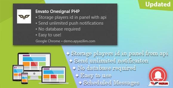OneSignal PHP Push Notification Panel Script