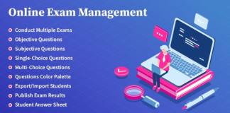 Online Exam Management Education and Results Management WordPress Plugin