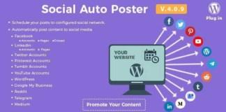 Social Auto Poster WordPress Plugin Download