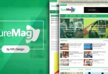 Sure Mag Premium Version Blogger Template Download