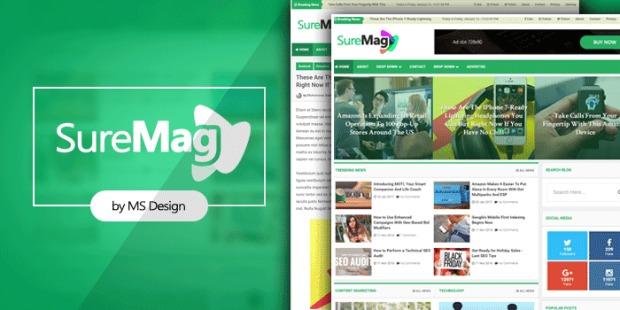 Sure Mag Premium Version Blogger Template Download