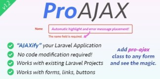 ProAjax Automatically Ajaxify Your Laravel Application Script