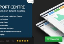 Support Centre Advanced PHP Ticket System Script