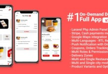 Food Delivery Full App with Backend Giraffy Delivery App Source Code