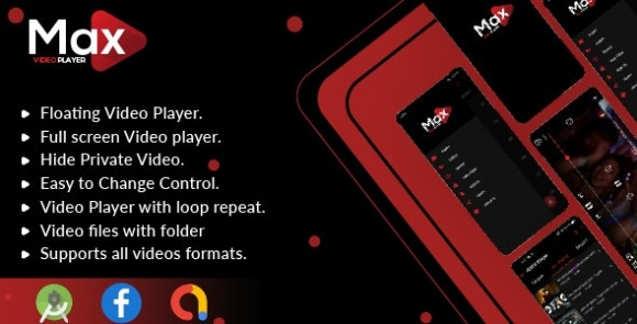 MAX Video Player Android Video Player With AdMob App Source Code