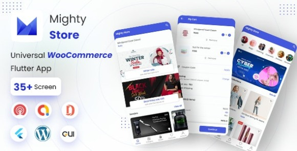 MightyStore Dokan Multi Vendor Flutter E-commerce Full App Source Code