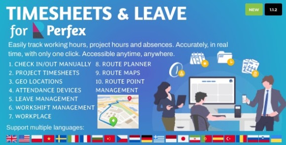 Timesheets and Leave Management for Perfex CRM Addon
