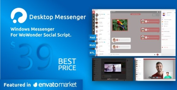 WoWonder Desktop Windows Messenger For WoWonder Social Script