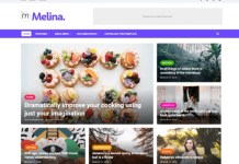 Melina Blogger Template Download