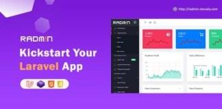 Radmin Laravel Admin starter with REST API Script