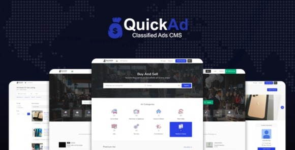 Classified Ads CMS PHP Script Quickad Classified Nulled