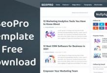 SeoPro Responsive Premium Blogger Template