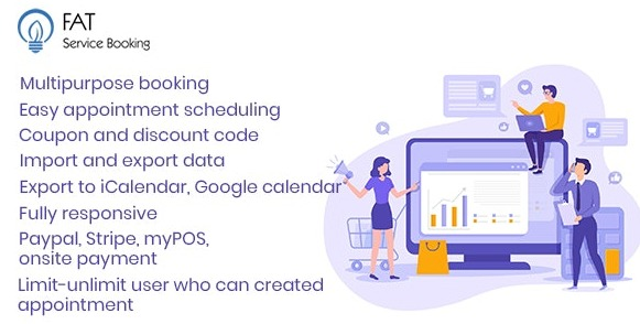 Fat Services Booking Automated Booking and Online Scheduling WordPress Plugin