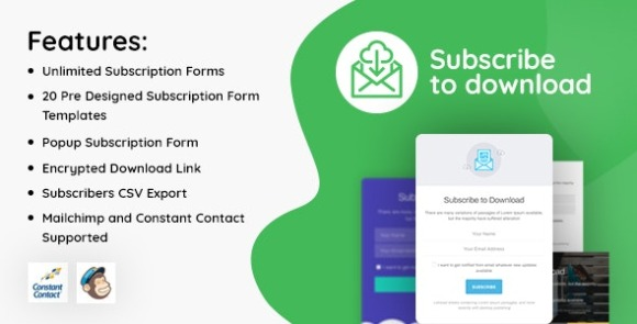 Subscribe to Download Advanced Subscription Plugin for WordPress