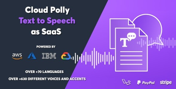 Cloud Polly Ultimate Text to Speech as SaaS Nulled Script