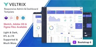 Veltrix Admin and Dashboard Template Download