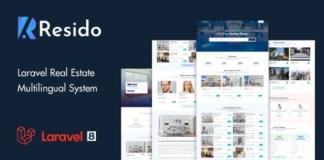 Resido Laravel Real Estate Multilingual System Nulled Script