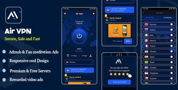 Air VPN Android App Source Code Free Download