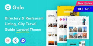 Golo Directory and Listing City Travel Guide Laravel Theme PHP Script