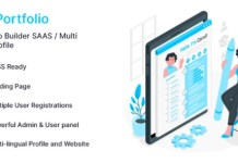 InfyPortfolio-SaaS Laravel Personal Portfolio Resume CV Website Script