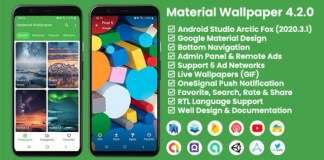 Material Wallpaper Android App Source Code