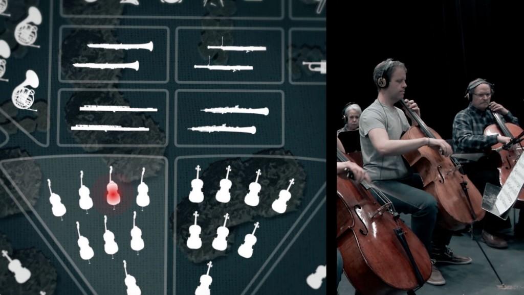 Les Jardins symphoniques, interface de l'application mobile.