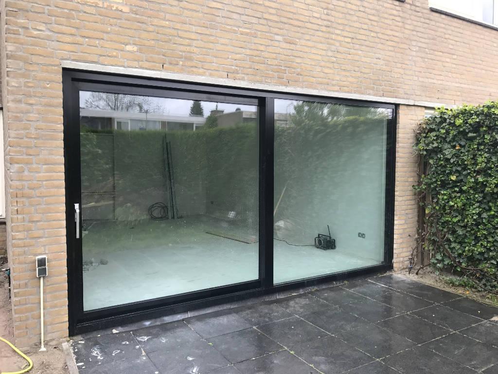 Numaga Kozijnen Nijmegen - Aluminium Schuifpui Weezenhof Nijmegen Buiten Aanzicht