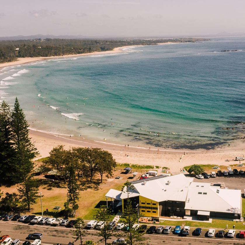 Woolgoolga Surf Club Aerial Shot
