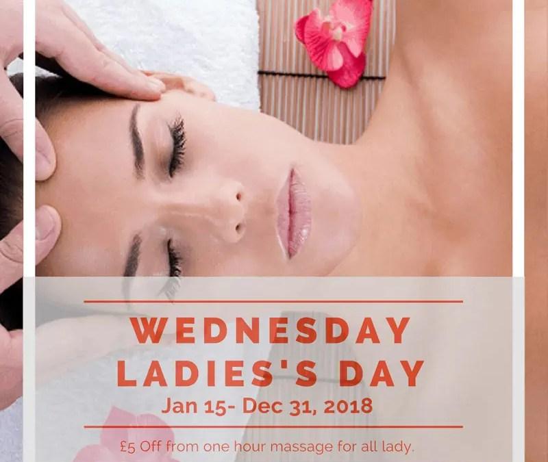 Ladies's Day Offers 2018-Thai massage, Deep Tissue massage