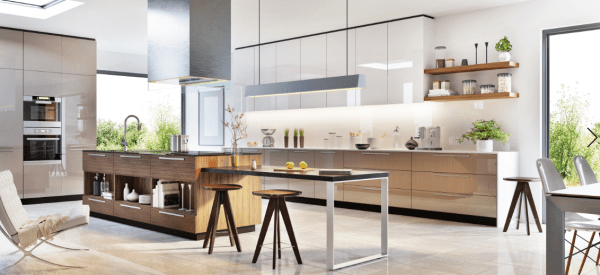 kitchen design, kitchen concept design in 3D