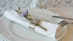 Serviette mit Ring