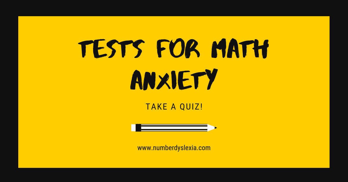 math anxiety tests