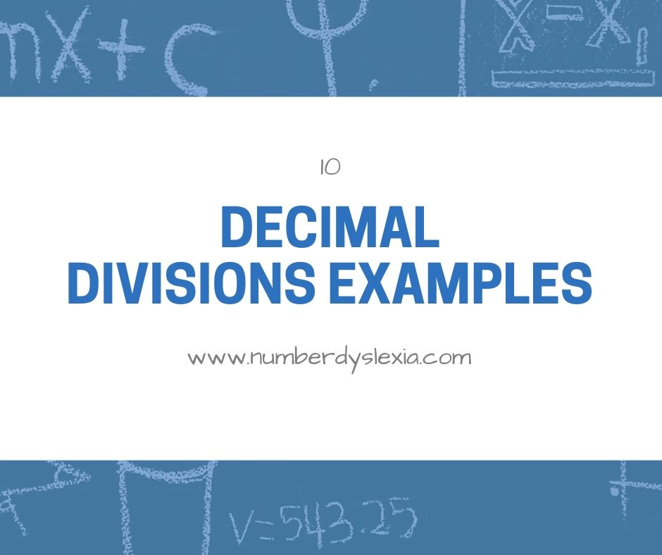 list of decimals divisions examples
