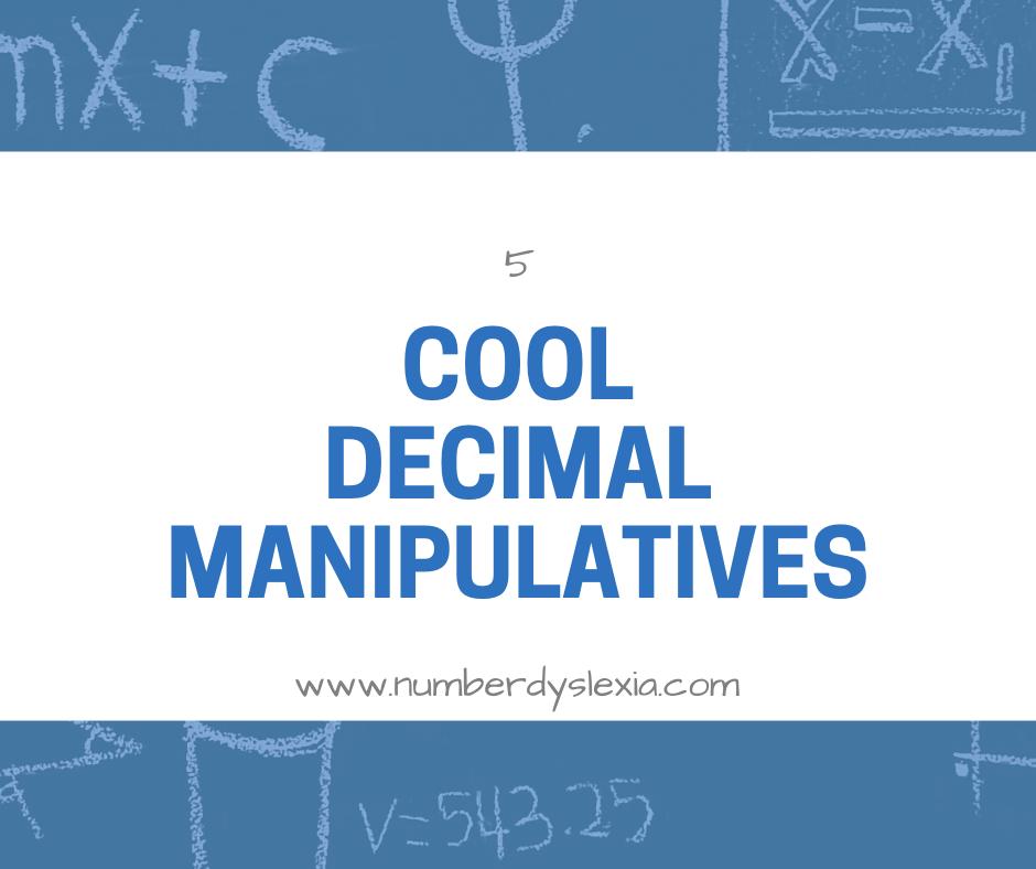 list of 5 decimal manipulatives