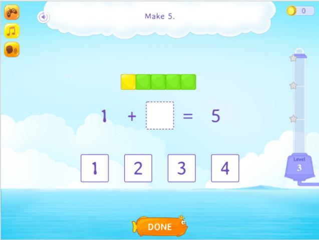 make a number 5 number bind game free online