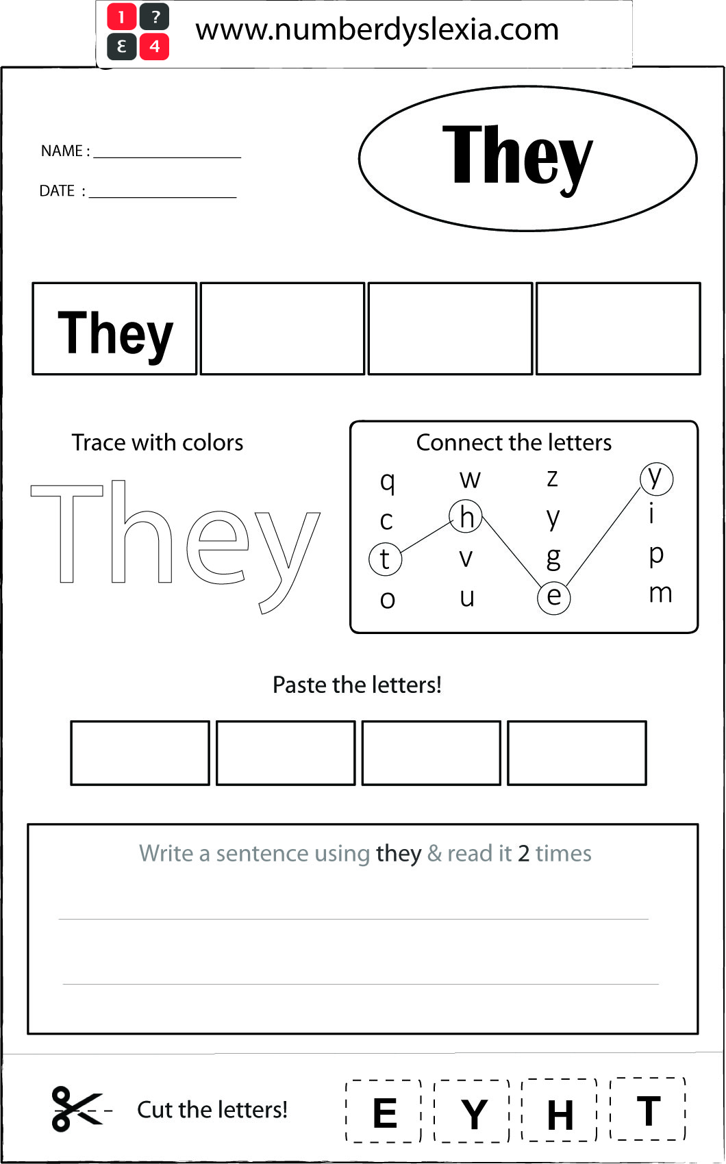 Free Printable Orton Gillingham Worksheet With Template