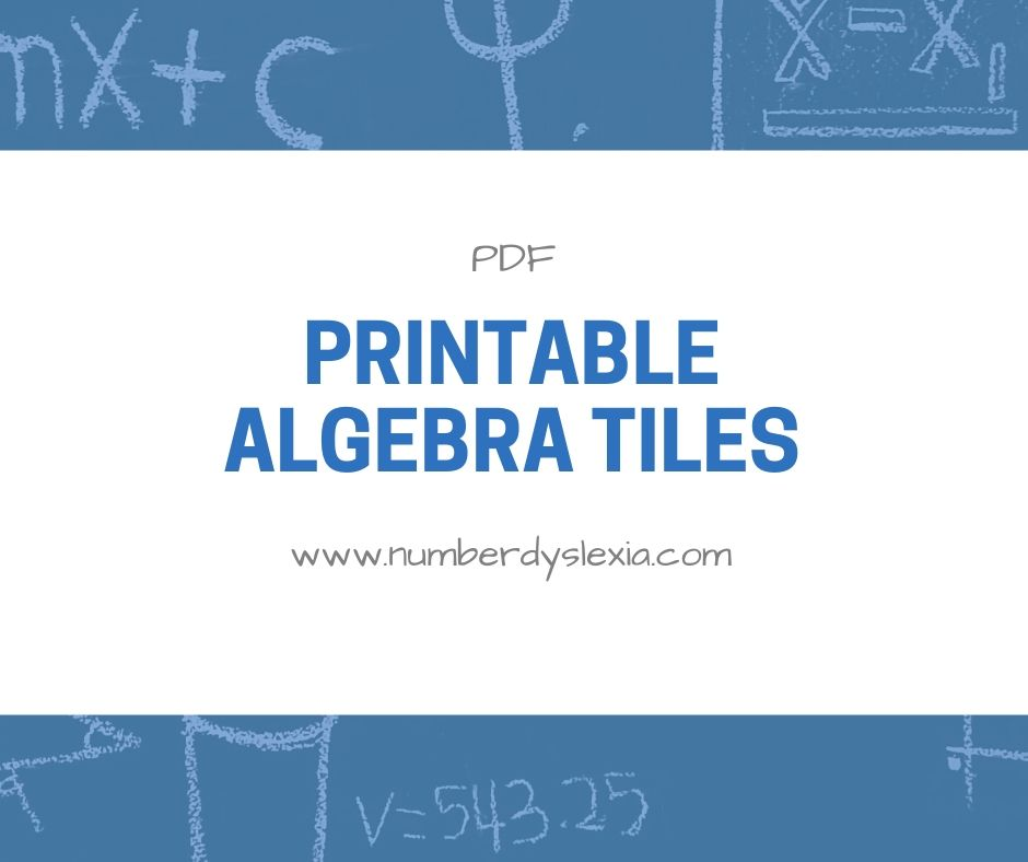 free printable algebra tiles pdf