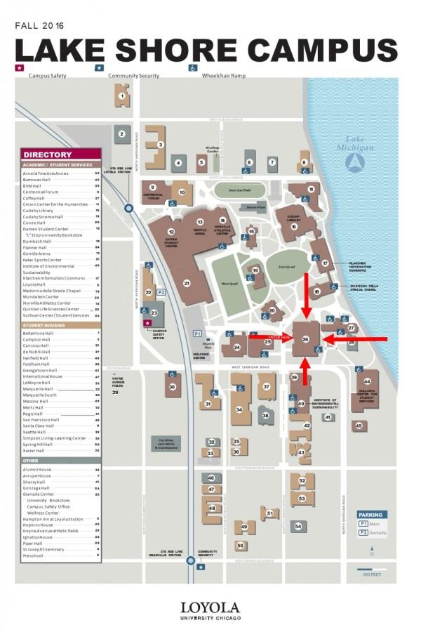 Loyola University Lake Shore Campus Map – 57th National ...