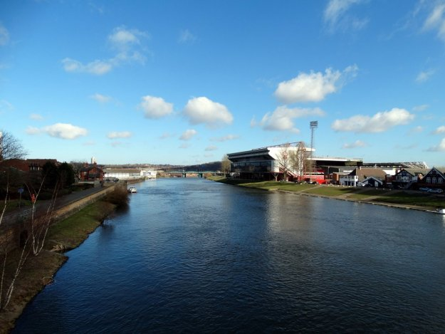 Widok na stadion Nottingham Forest