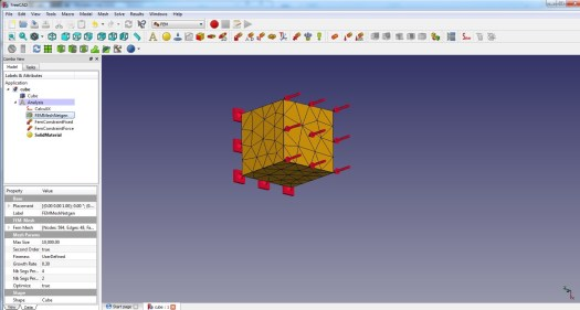 FreeCad 0.17 NetGen Meshing